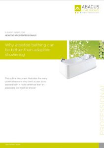 Assistive Bathing over Wetrooms brochure