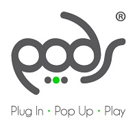 pods play logo