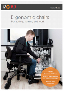 Ergonomic Chairs Brochure cover