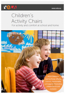 Children's Activity chairs brochure cover