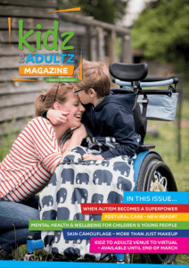 magazine cover with young boy in wheelchair