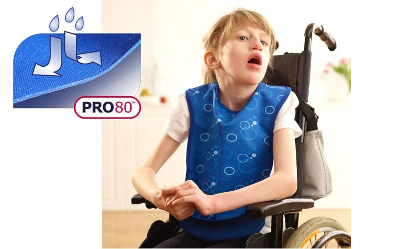 Care Designs - Junior Tabard Style Bib with Pocket Blue Bubbles 800x500 6