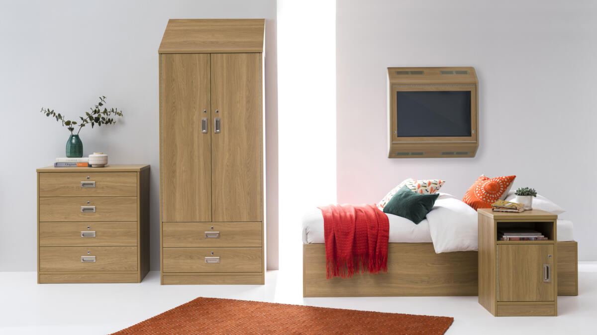 ToughPlus BoxBed Oak Capsule with Sloping Top  ALTV